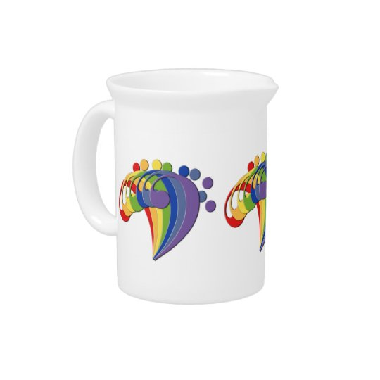 Bass Clef Rainbow Fan Creamer Drink Pitchers