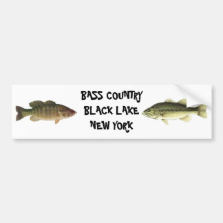 BASS COUNTRY BLACK LAKE NEW YORK BUMPER STICKER