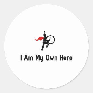 Bass Drum Hero Classic Round Sticker