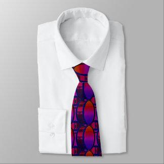 Bass Drum Red and Blue Pattern Necktie