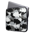 Bass Fishing Black Camo Laptop Sleeve