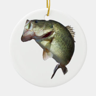 Bass Fishing Ceramic Ornament