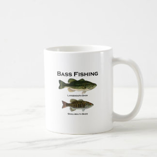 Bass Fishing Logo (largemouth - smallmouth) Coffee Mug