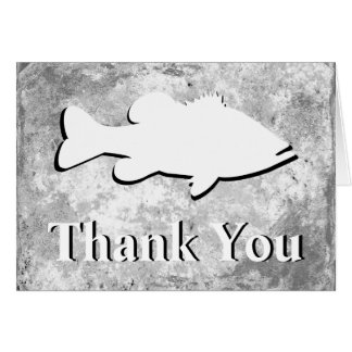 "Bass Fishing ""Thank You"" - Card"