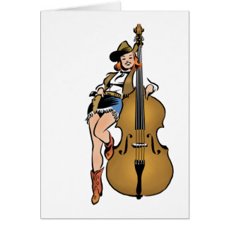 Bass Girl blank card