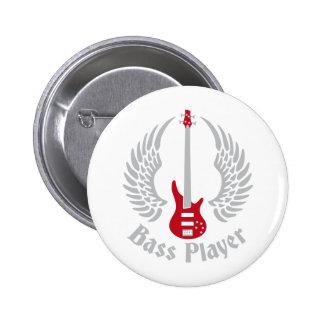 bass guitar 6 cm round badge