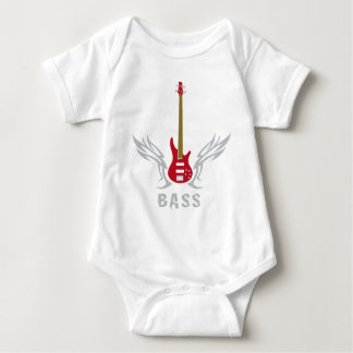 bass guitar baby bodysuit