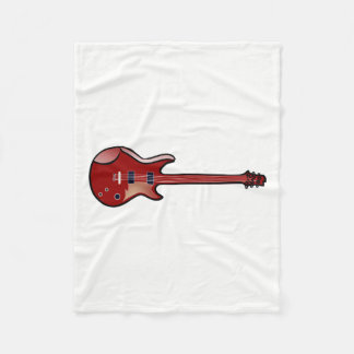 Bass guitar fleece blanket