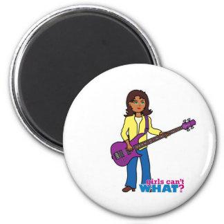 Bass Guitar Girl Refrigerator Magnet