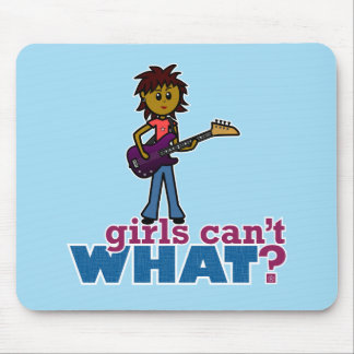Bass Guitar Girl Mouse Pads