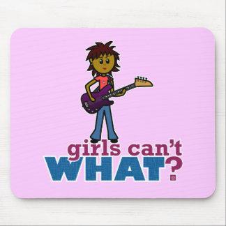 Bass Guitar Girl Mouse Pad