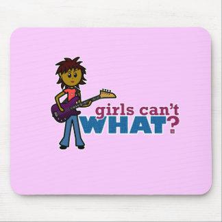 Bass Guitar Girl Mousepads