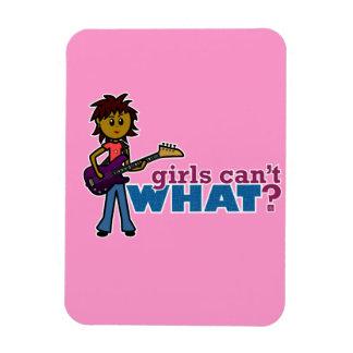 Bass Guitar Girl Rectangular Magnets