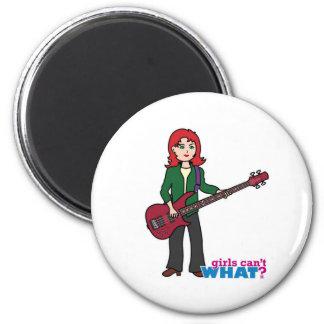 Bass Guitar Light/Red Fridge Magnet