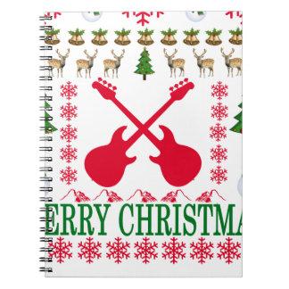 BASS GUITAR MERRY CHRISTMAS . NOTEBOOKS