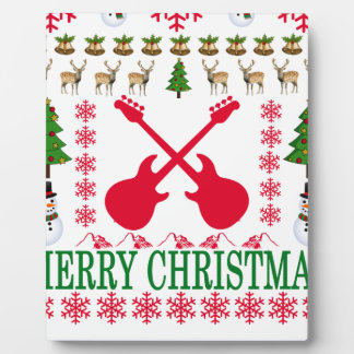 BASS GUITAR MERRY CHRISTMAS . PLAQUE