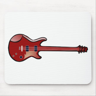 Bass guitar mouse pad