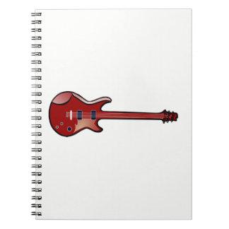 Bass guitar notebook