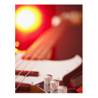 Bass Guitar Postcard