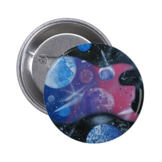 bass guitar purple pink blue planets right pins
