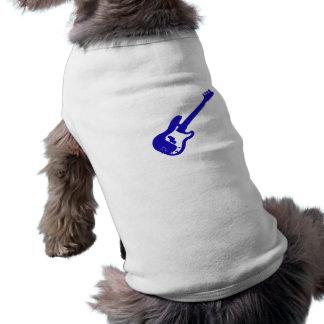 bass guitar slanted blue graphic doggie tshirt