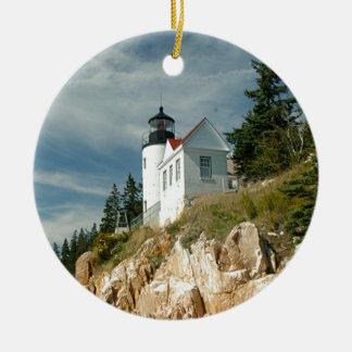Bass Harbor Head Lighthouse Ceramic Ornament