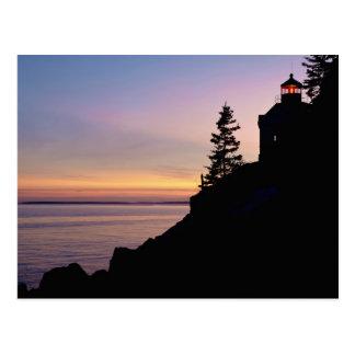 Bass Harbor lighthouse on Mt. Desert Island, Postcard