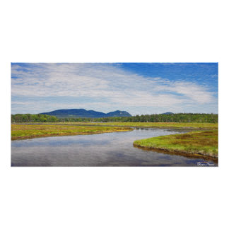 "Bass Harbor Marsh ""Painting"" Poster"