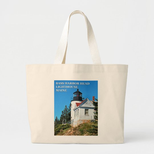 Bass Harbour Head Lighthouse, Maine Jumbo Tote Bag