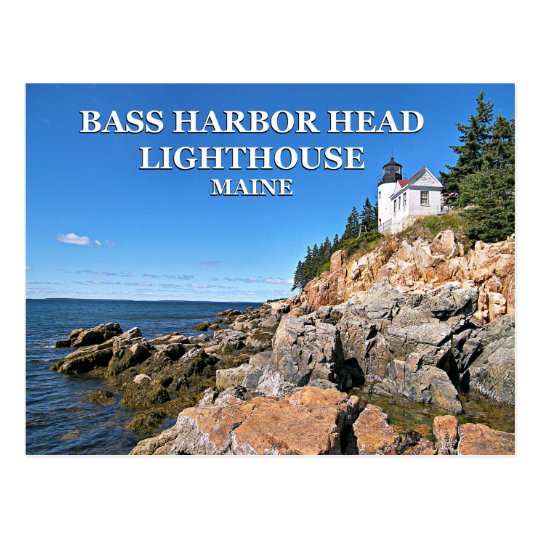 Bass Harbour Head Lighthouse, Maine Postcard