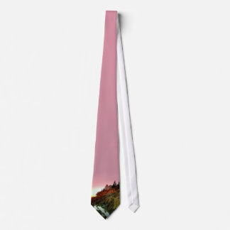 Bass Harbour Lighthouse Sunset Tie