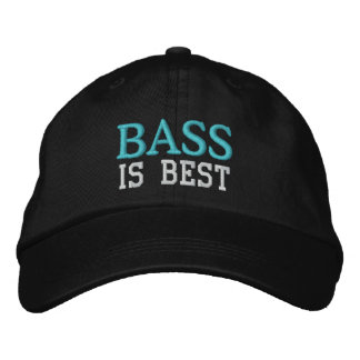 Bass Is Best Music Cap Embroidered Hats