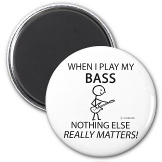 Bass Nothing Else Matters 6 Cm Round Magnet