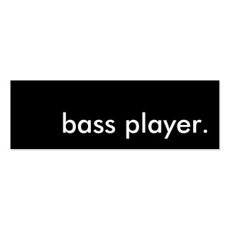 bass player. pack of skinny business cards