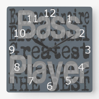 Bass Player Extraordinaire Square Wall Clock