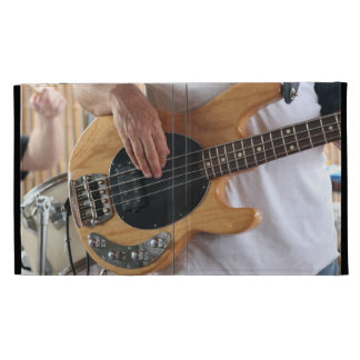 bass player four string bass hands drummer backgro iPad folio cases