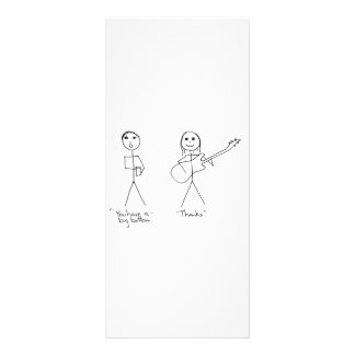 Bass player humour- You Have A Big Bottom Custom Rack Card
