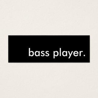 bass player. mini business card