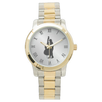 Bass Player Musician Black Roman Numerals Watch