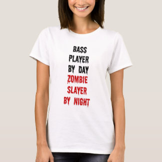 Bass Player Zombie Slayer T-Shirt