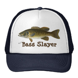 """Bass Slayer"" with Smallmouth Bass Painting Cap"