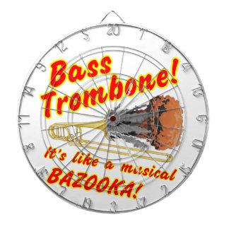 Bass Trombone Musical Bazooka Dartboard With Darts
