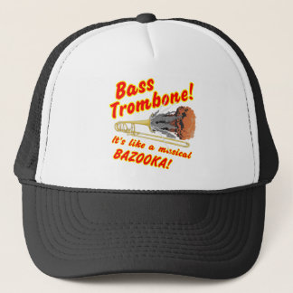 Bass Trombone Musical Bazooka Trucker Hat