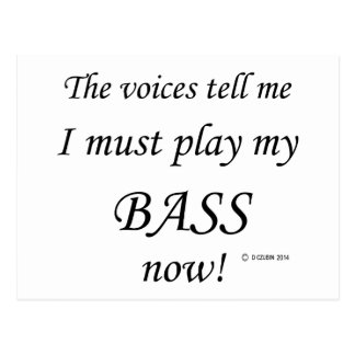 Bass Voices Say Must Play Postcard