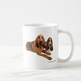 Basset and Bloodhound Buddies Coffee Mug