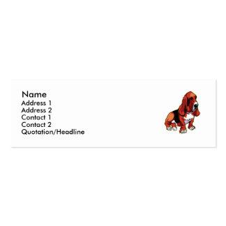 Basset  business card template