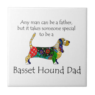 Basset Dad Tile