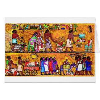 Basset Dynasty Greetings Card