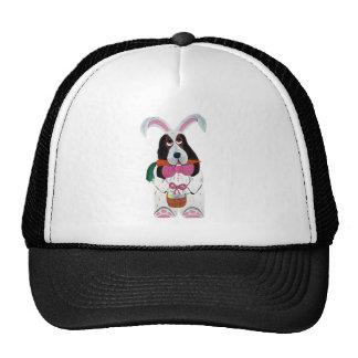 Basset Easter Bunny Cap