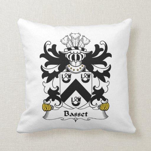 Basset Family Crest Pillow